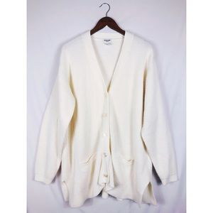 Thick White Everyday Cardigan